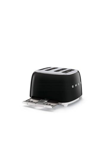 Smeg Tsf03Bleu Retro Siyah 4X4 Slot Ekmek Kızartma Makinesi Siyah